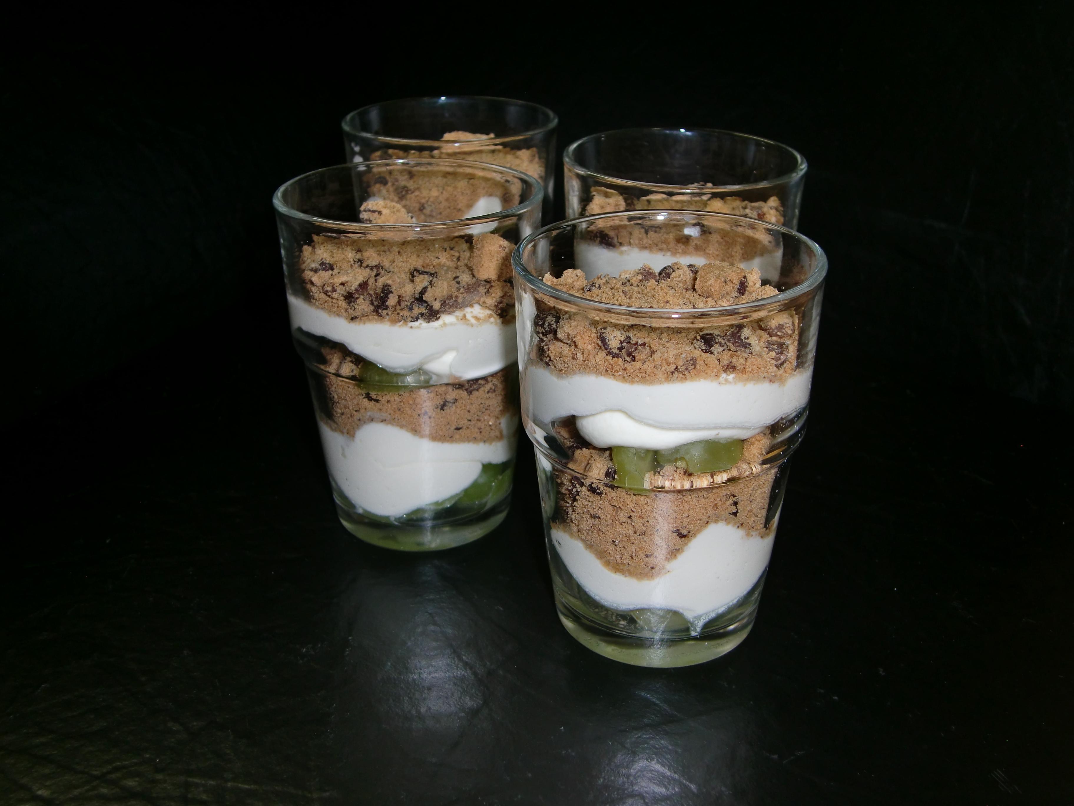 Coockie-Weintrauben Creme